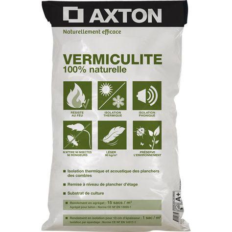 Vermiculite Naturelle Exfoliée Axton Matériaux Menuiserie