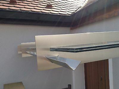 Edelstahl Glas Vordach San Diego Mit Integrierte Regenrinne Vsg Tvg Glas Eur 990 00 Vordach Glas Regenrinne Vordach