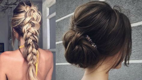 Simple And Very Beautiful Hairstyle On Every Day Simple Hairstyles For Diy Hairstyles Hair Styles Popular Haircuts