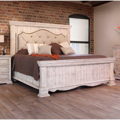 One Allium Way Fischer Platform Bed Rustic Bedroom Furniture
