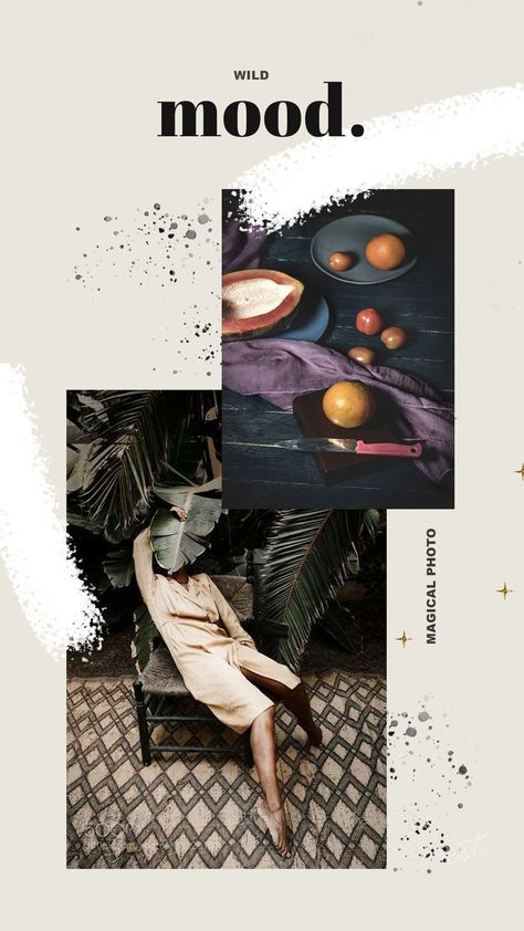 Mood boards. Social media stories template. Design by Kristina & Co