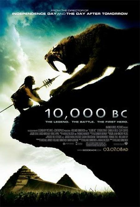 10000 Bc 2008 Hindi Dubbed Movie 300mb 480p Bluray Mkv Historical Film Movie Posters Free Movies Online