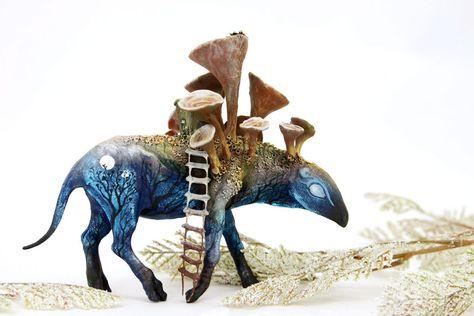 Russian Artist Creates Fantasy Animal Sculptures From Velvet Clay (85 Pics)