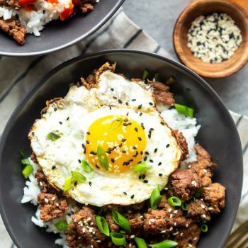Korean Ground Beef Bowls Recipe Healthy Ground Beef Beef Recipes Easy Korean Ground Beef