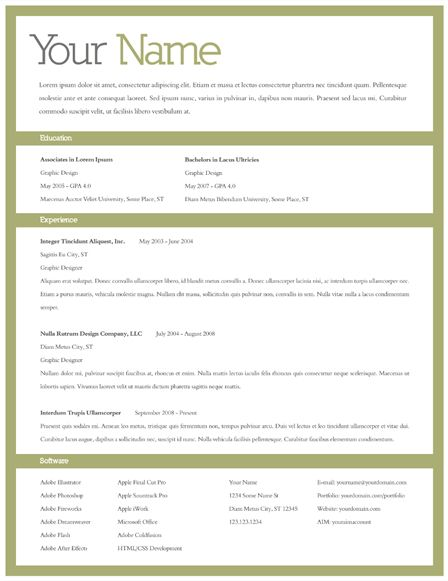 add a border and some color to make your resume stand out