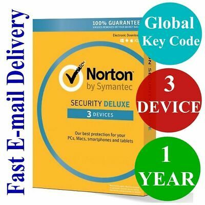 Ebay Link Ad Norton Security Deluxe 3 Device 1 Year Unique Global Key Code 2019 Norton Security Coding Security