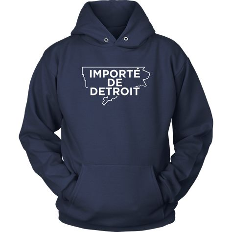 Importe De Detroit Navy And White Hoodie With Images Unisex