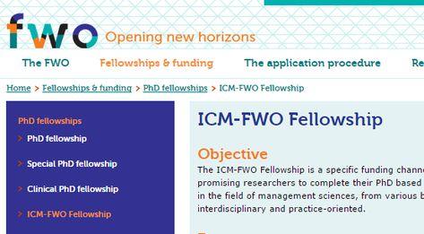 FWO Junior Postdoctoral Fellowship for International