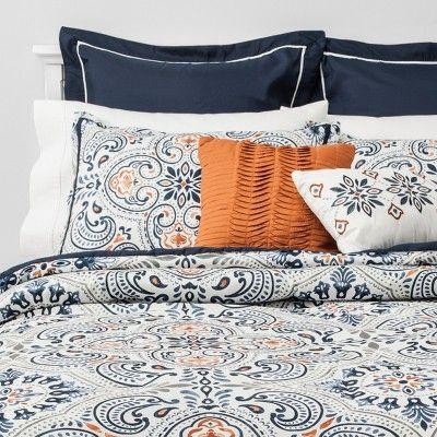 8pc Medallion Opal Comforter Set Indigo In 2020 Comforter Sets Comforter Bedding Sets Full Size Comforter Sets