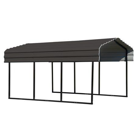 Arrow Galvanized Steel Metal Carport 10x15 Eggshell Walmart Com Steel Carports Metal Carports Carport Canopy