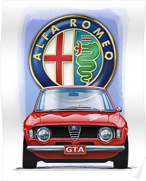 Alfa Romeo Gta Poster By Davidkyte In 2020 Alfa Romeo Gta Alfa Romeo Classic Cars