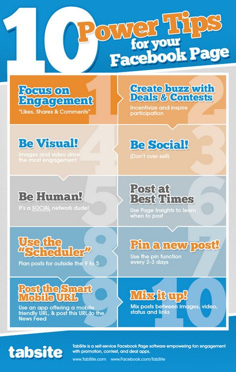 10 Power Tips for your Facebook Page [Infographic]