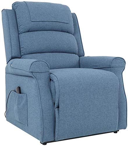 Buy Five Stars Furniture Electric Power Lift Recliner Chair Linen Fabric Remote Control Elder Blue Online Stargreatshopping In 2020 Star Furniture Lift Recliners Recliner Chair
