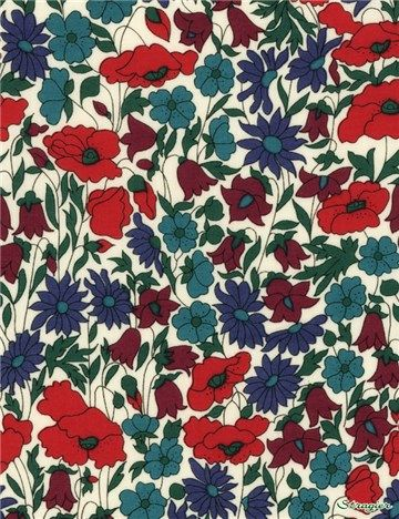 Liberty ~ betsy r bleu sarcelle vert tana lawn tissu//quilting couture floral