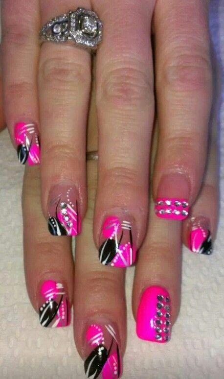 trendy Ideas for pedicure designs nailart hot pink