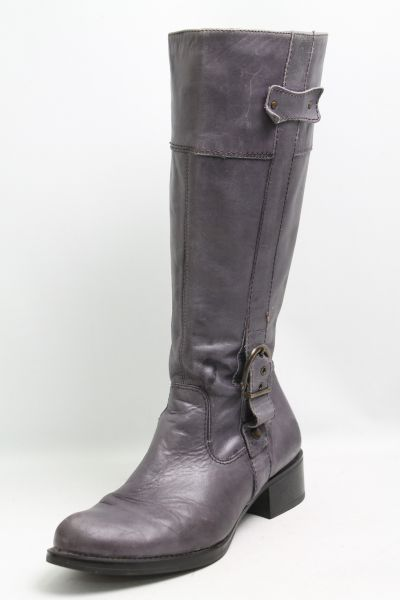 Details zu Moccio Stiefel grau Leder Gr. 42 (UK 8)