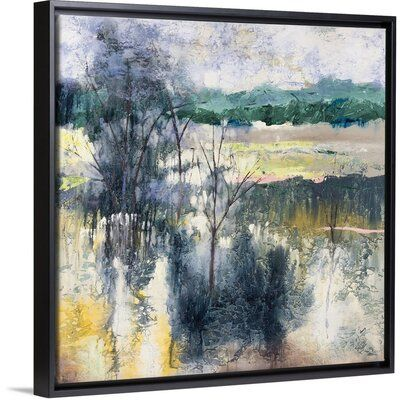 Alcott Hill Deer Run Painting On Canvas Format Black Floater Frame Size 13 7 H X 13 7 W X 1 75 D Deer Running Painting Floating Frame
