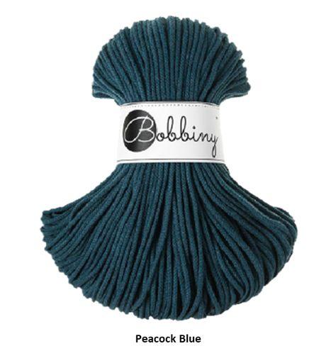MIY Macrame Hanging Planter (Style 1) - Peacock Blue (Rope)