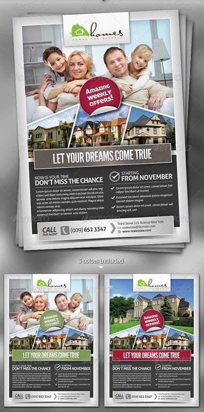 Psd Contoh Brosur Perumahan Real Estate Network Biz Id Real Estate Flyers Real Estate Flyer Template Real Estate Brochures