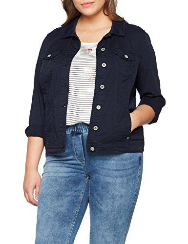 Via Appia Due Damen Jeansjacke Jacke Kragen Arm Knöpfe Blau