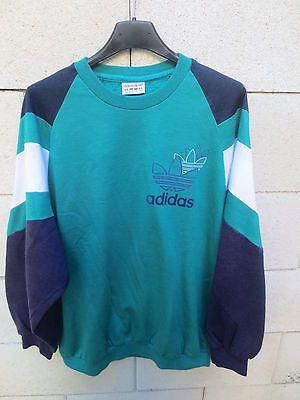 entire collection best value attractive price VINTAGE-Sweat-ADIDAS-TREFOIL-annees-80-vert-oldschool-Ventex ...