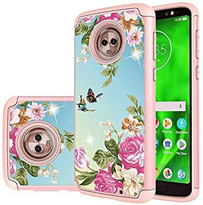 outlet store 9a239 c64b5 Amazon.com: Moto G6 Case,Yiakeng Dual Layer Waterproof Hard Slim ...