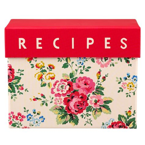 Spray Flowers Recipe Card Box | Cath Kidston |