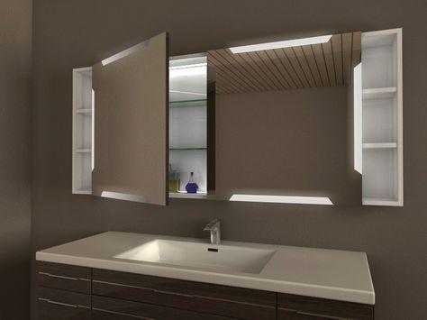 Spiegelschrank Badezimmer Unterputz Einbau Moglich Offene Re Badezimmer Spiegelschrank Mit Beleuchtung Badezimmer Spiegelschrank Spiegelschrank Bad