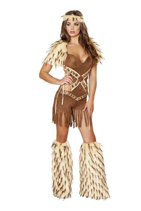Electra Boots Brown Fur Native American Eskimo Halloween Adult Costume Accessory
