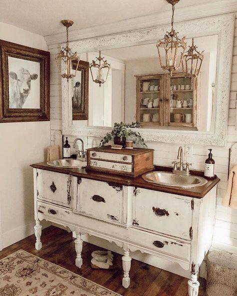 Woods and Whites from Walmart – The House on Winchester - DIY Badezimmer Dekor Decor, French Country Bedrooms, Country Decor, Bathroom Decor, French Country Bathroom, Furniture, Bathrooms Remodel, Home Decor, Country Bedroom