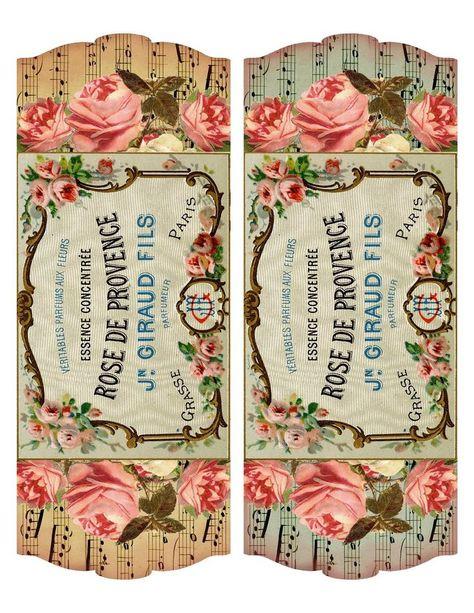Printable Vintage French Perfume Labels