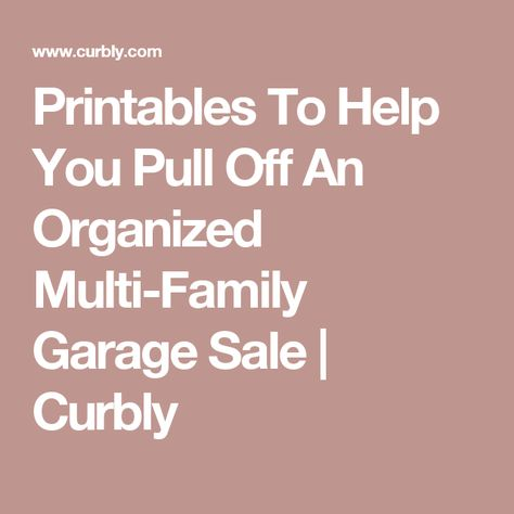 Pulloff For Sale >> Printables To Help You Pull Off An Organized Multi Family