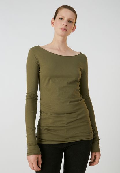 100/% BIO-Merinowolle NEU DILLING Langarmshirt mit hohem Ausschnitt schwarz