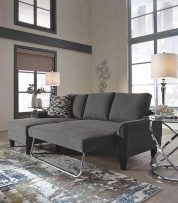 Jarreau Sofa Chaise Sleeper Gray In 2020 Chaise Sofa Sofa Futon Sofa