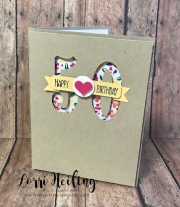 50th Birthday Card Confessions Of A Stamping Addict Special Birthday Cards 60th Birthday Cards Diy 50th Birthday Card