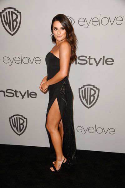 Actor Lea Michele attends the 19th Annual Post-Golden Globes Party hosted by Warner Bros. Pictures and InStyle.