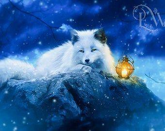 Gothic Art Fantasy Art Prints Book Covers By Enchantedwhispersart Arctic Fox Art Fox Art Print Fox Art