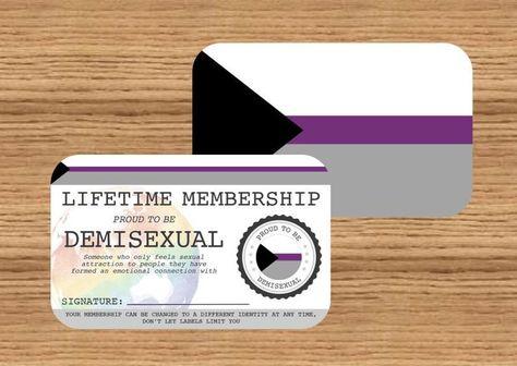 DEMISEXUAL Lifetime Membership Card Gay Pride Card LGBT   Etsy
