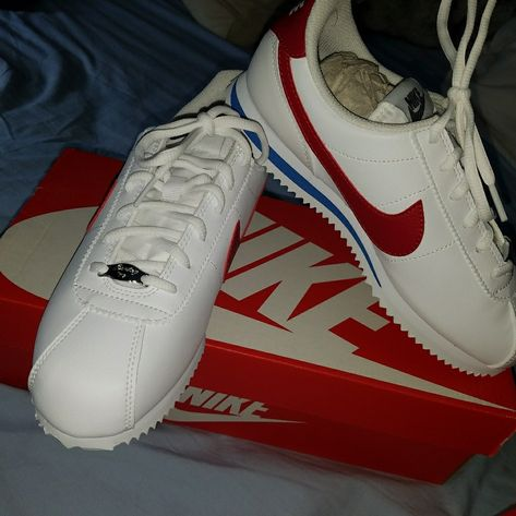 low priced the best 100% authentic Nike Shoes | Nike Cortez Youth 5.5 | Color: Blue/Red | Size ...