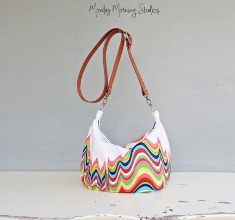 5bcc96c07b Rainbow Zipper Hobo Bag