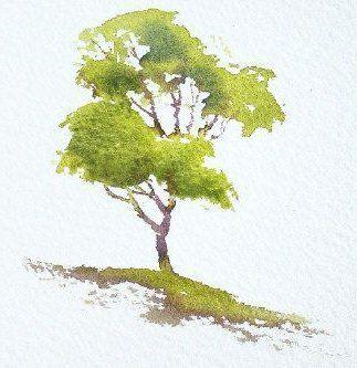 Einfaches Tutorial Fur Aquarellbaume Tierzeichnung Pinterest