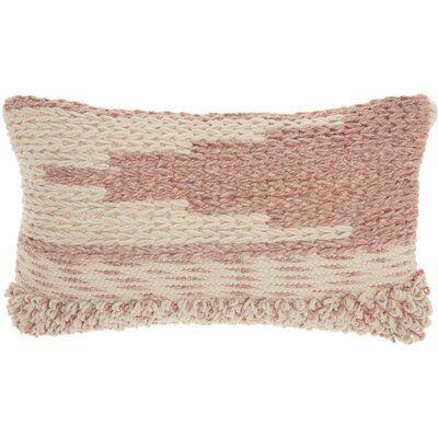 Ellijay Bohemian Textured Throw Pillow Color Blush Blush Throw Pillow Textured Throw Pillows Geometric Throw Pillows