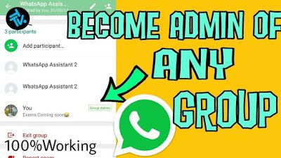How To Make Yourself An Admin Without Admin S Permission In Any Whatsapp Group 2020 Whatsapp Group Admin Girls Phone Numbers