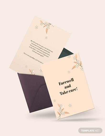 Simple Office Farewell Card Template Free Jpg Illustrator Word Apple Pages Psd Publisher Template Net Card Template Farewell Cards Card Templates Free