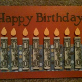 The card I made for my 8 year old nephews birthday! :)