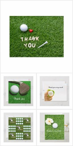 Golf Thank You Card Golf Birthday Cards Golf Christmas Gifts Golf Gifts For Men
