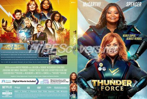 DVD Cover Custom DVD covers BluRay label movie art - DVD CUSTOM Covers - T / Thunder Force (2021)