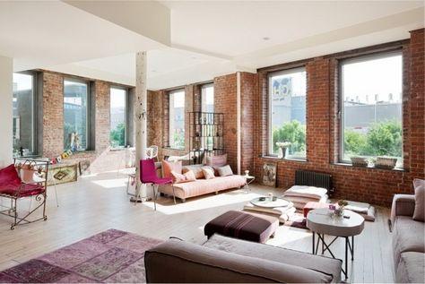La Deco Loft New Yorkais En 65 Images Con Imagenes Paredes De