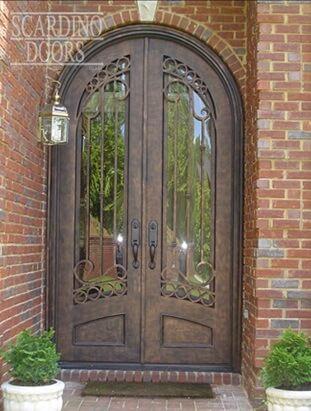 Custom Arched Wrought Iron French Parisian Doors European