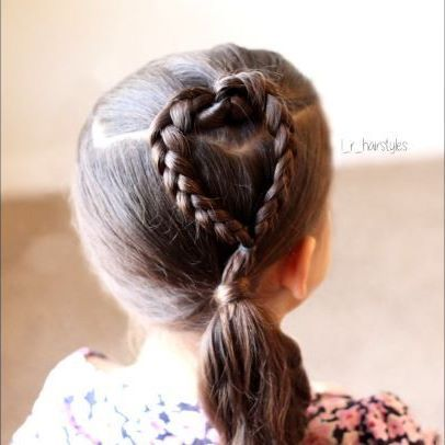 Easy Heart Braid Tutorial Hairstyles Hair Ideas Hairstyles Ideas Braided Hair Braided Hairstyles Hair Styles Braided Hairstyles Kids Hairstyles
